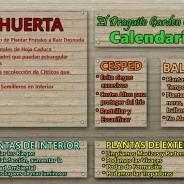 Calendario Jardín Diciembre- Enero- Marzo