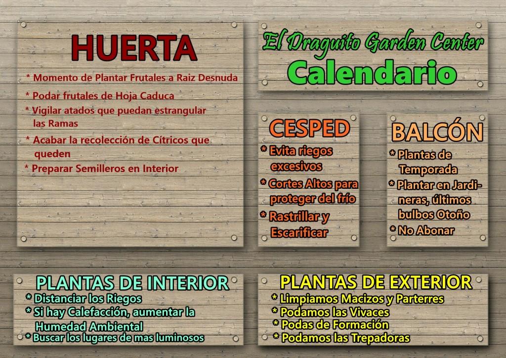 Calendario jard n diciembre enero marzo el draguito for Calendario jardin botanico 2016